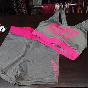 Nike Pro Shorts & Sports Bra M/S